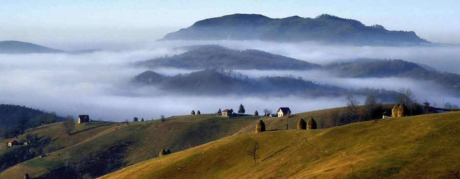 Hills of the serbian countryside
