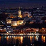 Danube river by night